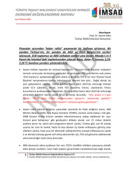 1 Türkiye İMSAD Ekonomi Değerlendirme Raporu/177