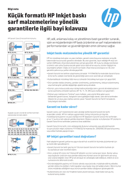 Küçük formatlı HP Inkjet baskı sarf malzemelerine - Hewlett