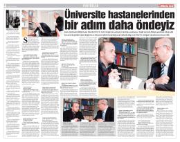 da görülen büyük değişimin ve Prof. Dr. Fazlı Erdoğan ile yaptığım