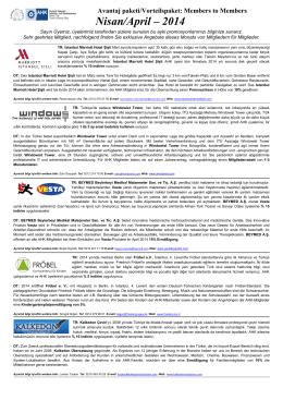 Alman – Türk ticaret ve Sanayi Odası Members to Members