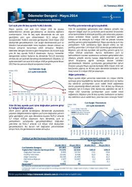 Ödemeler Dengesi - Mayıs 2014