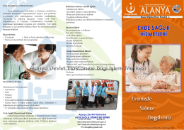 Alanya Devlet Hastanesi EVDE SAGLIK HiZMETLERi BiRiMi