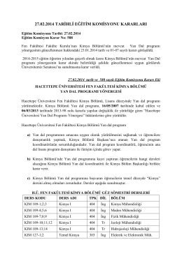 27.02.2014 tarihli eğitim komisyonu kararları