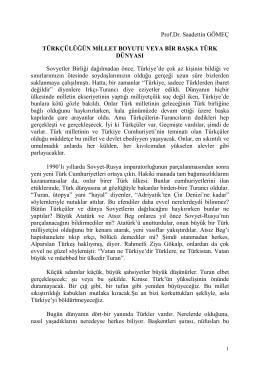 Bir Başka Türk Dünyası - Bilinmeyen Türk Tarihi