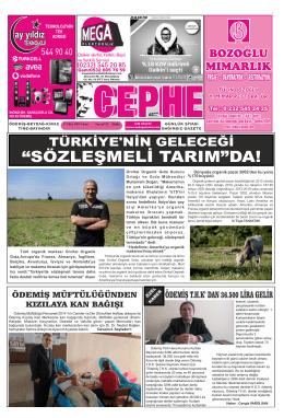 17.10.2014 Tarihli Cephe Gazetesi