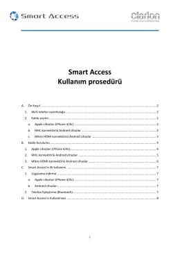 Smart Access Kullanım prosedürü