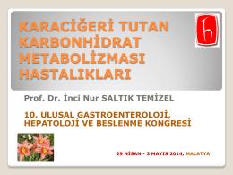 karbonhidrat metabolizması hastalıkları