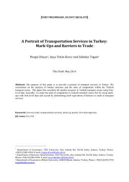 Transportation Services in Turkey