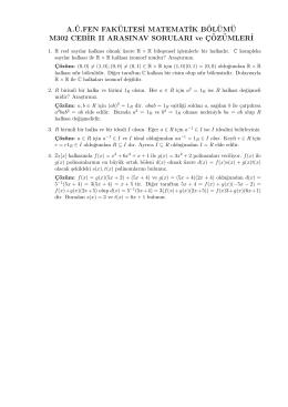 A.¨U.FEN FAK¨ULTES˙I MATEMAT˙IK B¨OL¨UM¨U M302 CEB˙IR II