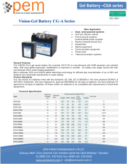 Gel Battery –CGA series