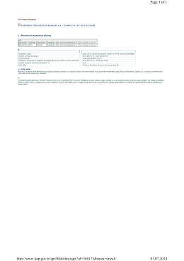 Page 1 of 1 01.07.2014 http://www.kap.gov.tr/api/Bildirim.aspx?id