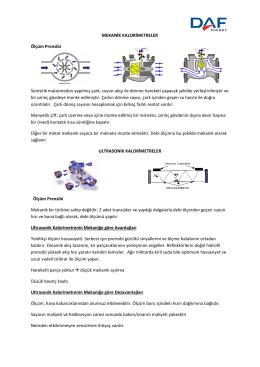 Mekanik-Ultrasonik Kalorimetreler Karşılaştırma