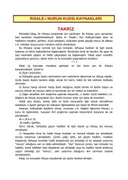 TAKRİZ - Nurunbekcisi.com