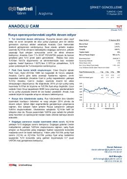 ANADOLU CAM - Yapı Kredi Yatırım