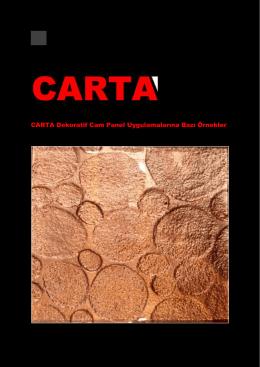 CARTA Dekoratif Cam Panel Uygulamalarına Bazı Örnekler