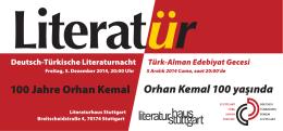 100 Jahre Orhan Kemal Orhan Kemal 100 yaşında