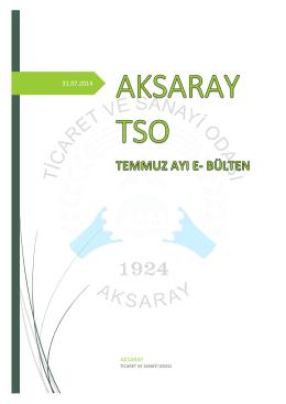 AKSARAY TSO - Aksaray Ticaret ve Sanayi Odası