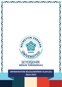 2014-2015 Oryantasyon-Bilgilendirme Klavuzu