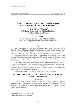 Prof. Dr. Kenan ERDOĞAN - Sosyal Bilimler Enstitüsü