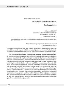 Tam metin - PDF - Hacettepe Üniversitesi Bilgi ve Belge Yönetimi