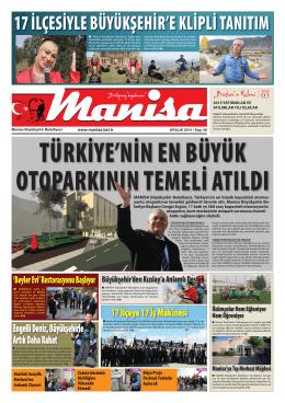 Aralık Sayısı - Manisa Belediyesi