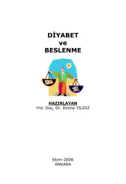 DİYABET ve BESLENME
