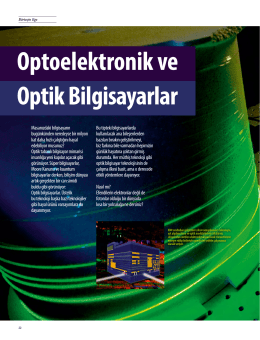 Optoelektronik ve Optik Bilgisayarlar (Pdf.)
