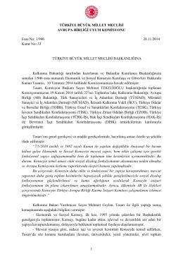 Raporu - Türkiye Büyük Millet Meclisi