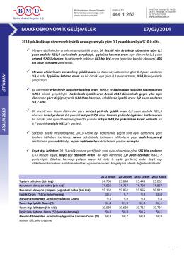 2011 ıv. çeyrek strateji raporu makroekonomik gelişmeler 17/03/2014