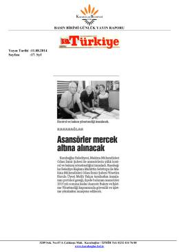 11.08.2014 - Karabağlar Belediyesi