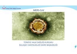 MERS_ CoV (Yeni Coronavirüs) EĞİTİM SUNUMU