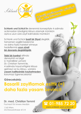 Flyer S+S, deutsch+türkisch v2.cdr - Schlank und schick mit Dr. Temml