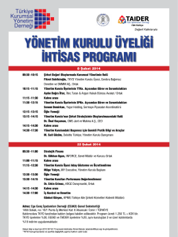 yönetim kurulu üyeliği ihtisas programı