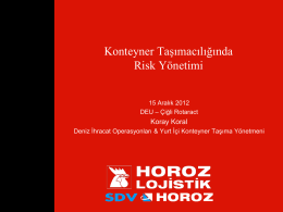 yük emniyeti - Depokur.com
