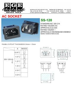 AC SOCKET SS-120 - ege elektronik