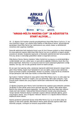 arkas-milta marina cup
