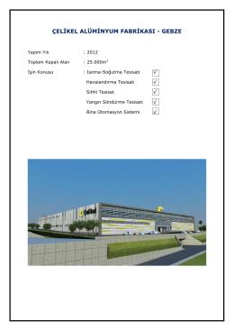 çelikel alüminyum fabrikası
