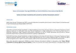 (KİDDER) ve Control Solutions International İşbirliği