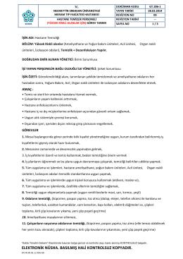 GT.286-1 HASTAN E TEMÝZLÝK PERS ONELÝ( YÜKSEK R ÝSKLÝ