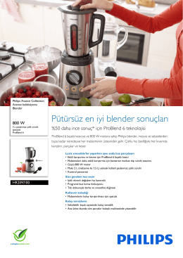 HR2097/00 Philips Avance koleksiyonu Blender