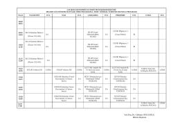 2004-2005 bahar dönemi haftalık ders programı