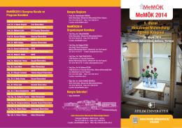MeMÖK2014 Broşür - Atılım Üniversitesi