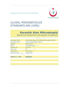 Karanlık alan mikroskopisi - Türkiye Halk Sağlığı Kurumu