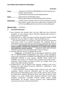 Havacılık Tazminatı Dava Dilekçesi dosyası için - Büro Hak-Sen