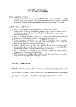 BÜSAS Tüzük - Boğaziçi Üniversitesi Sualtı Sporları Kulübü