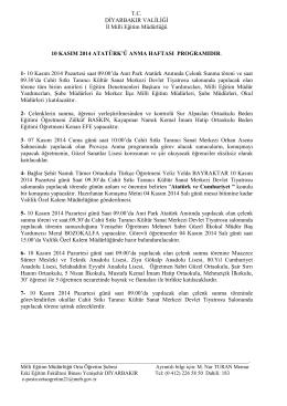 T.C. DĐYARBAKIR VALĐLĐĞĐ Đl Milli Eğitim Müdürlüğü . 10