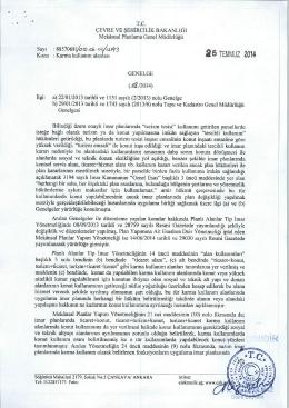 2014/18 Mekansal Planlama - Tapu ve Kadastro Genel Müdürlüğü