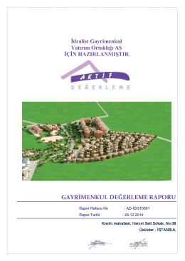 2014 Yıl Sonu Porföy Değerleme Raporu