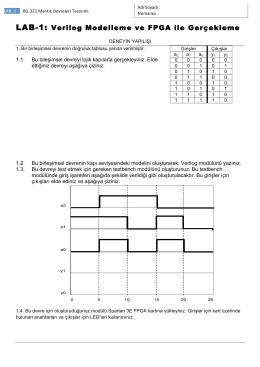 LAB-1: Verilog Modelleme ve FPGA ile Gerçekleme