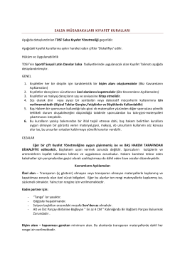 SSD SALSA KIYAFET TALİMATI 2014-2015 PDF Dosyasını